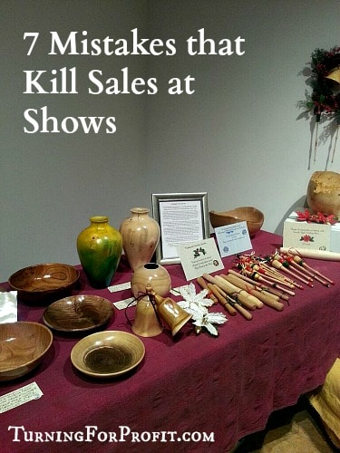 Table set up for sales at craft fair