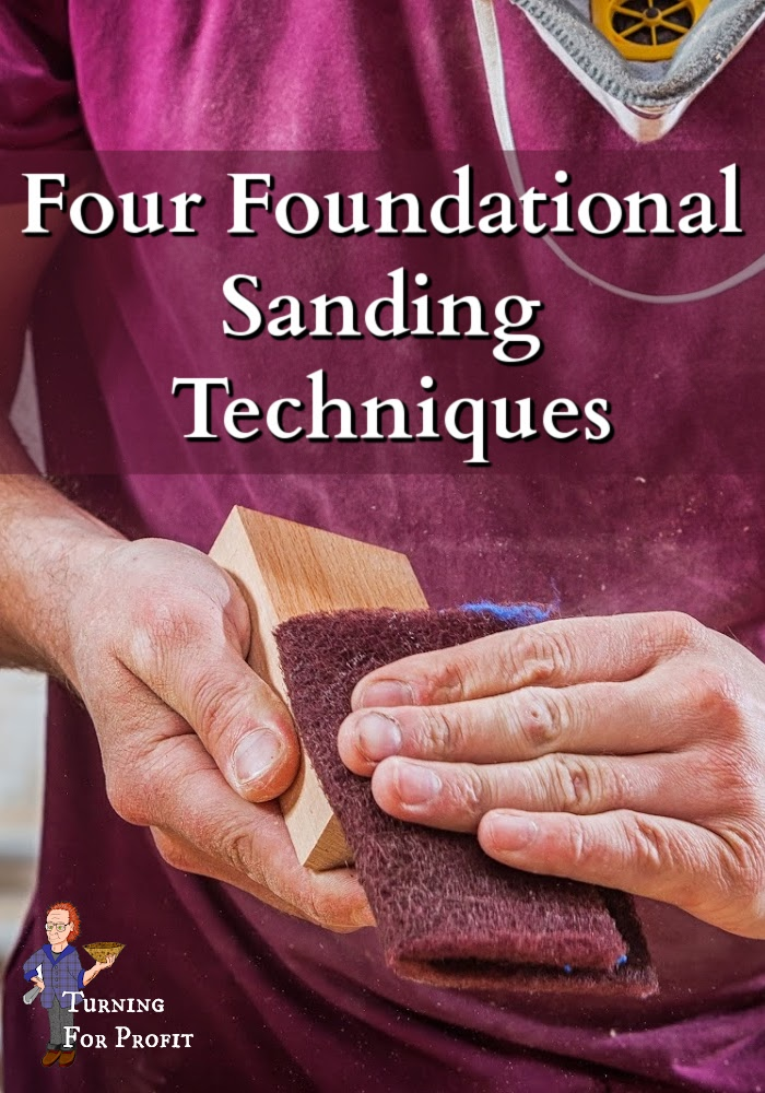 A man with wood in his hands, sanding