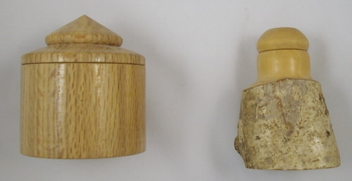 Two small boxes from local wood.