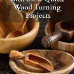 Wooden bowls, scoops and a spoon