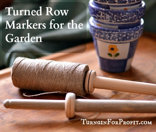 Turned Garden Row Markers