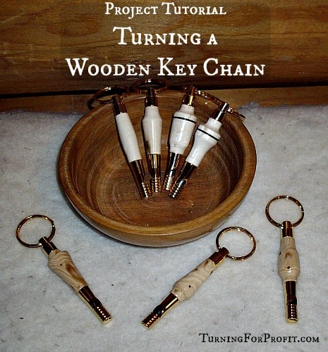 wooden key chain finished