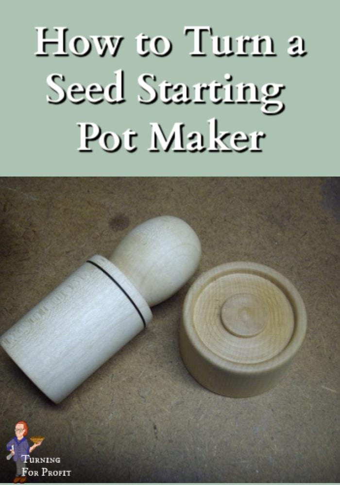 A wooden seed start pot maker