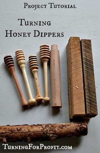 Honey Dippers by small pieces of wood