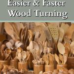 Display of wooden kitchen utensils for sale