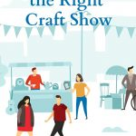 Illustration of people at a craft show