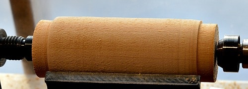 Woodturning blank round with tenons