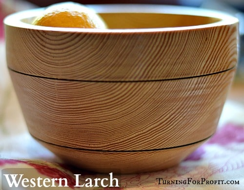Woodturning - Larch bowl with burn lines