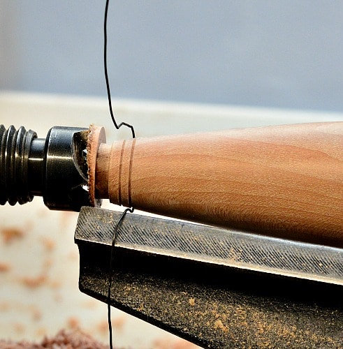 Woodturning - wire around wood only