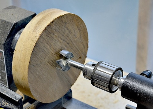 tea light holder, ready to drill the central hole