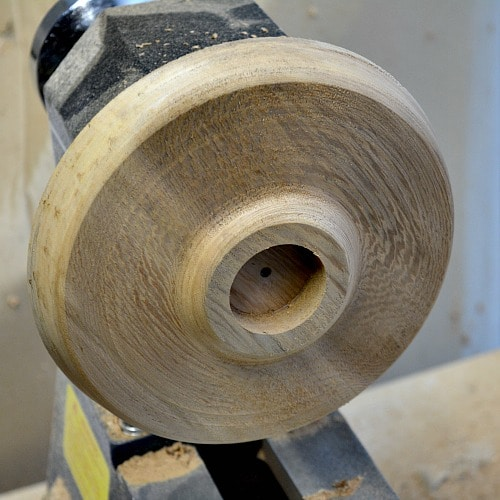 tea light holder, shaping the front of the candle holder