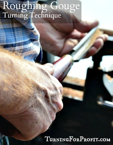 Roughing Gouge being used on wood lathe