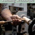 roughing gouge being used on a wood lathe