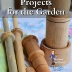 wood turned items for the garden