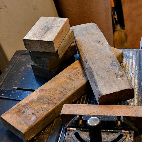 Scrap 2x4 pieces to make turning blanks from