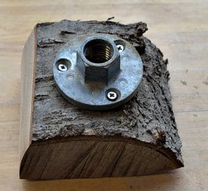 Face plate on turning blank