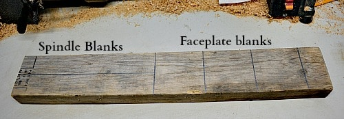 How to mark out a 2x4 to make turning blanks