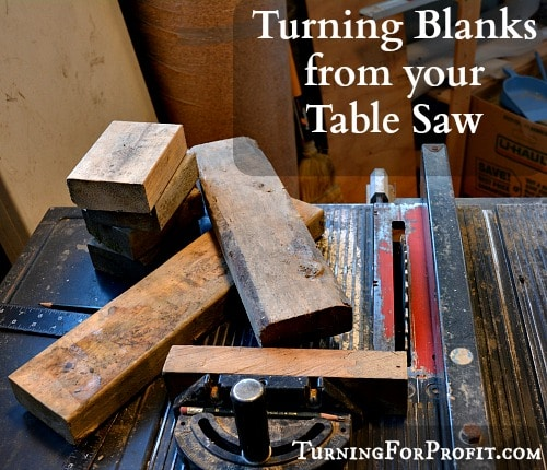 Turning Blanks: How to cut dimensional lumber on your table saw to make turning blanks