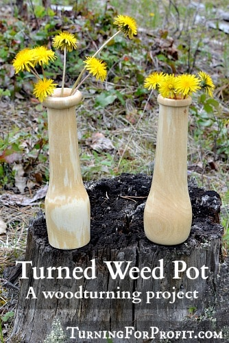Turned Weed Pot