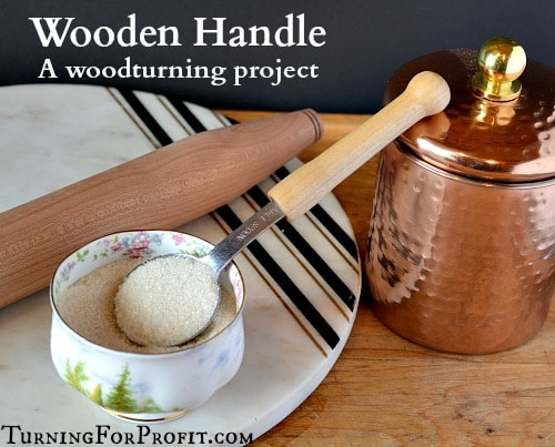 wooden handle - an old spoon with a new handle