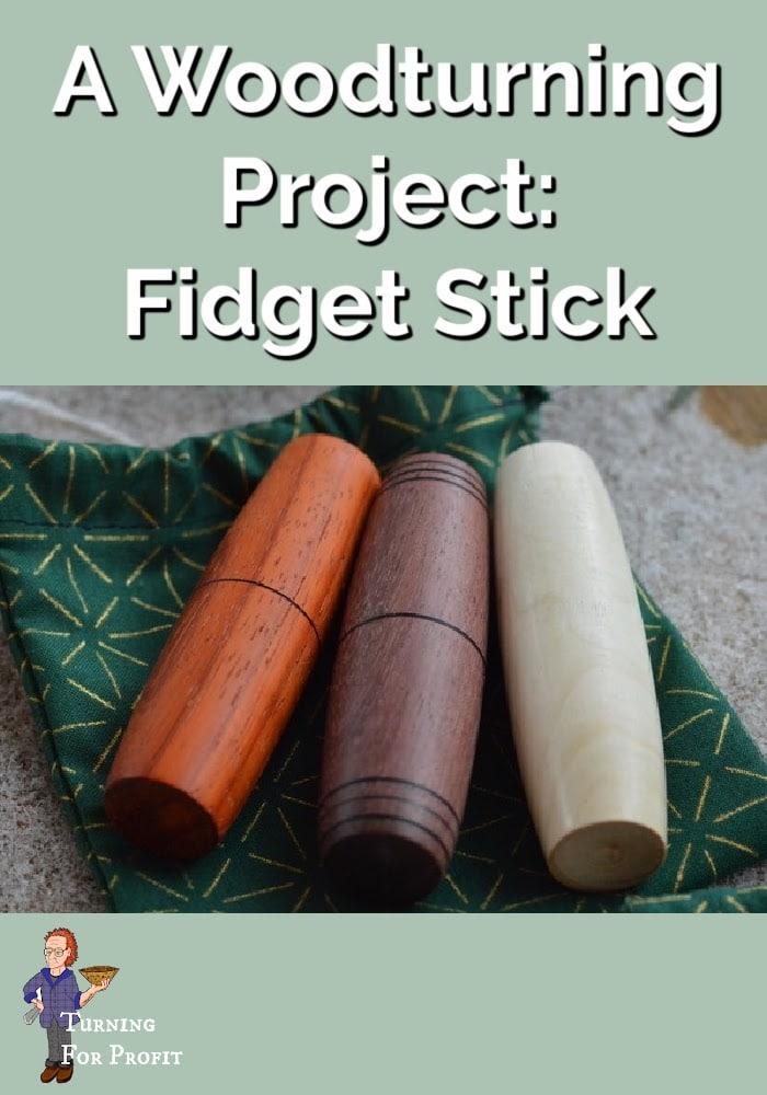 wood turned fidget sticks