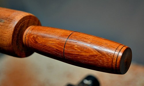 Fidget Stick - this stick is made of Padauk and has some burn lines added