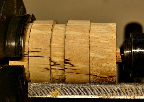 lidded box - part the joint smooth and parallel with the lathe