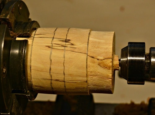 I use a parting tool to make the tenons on a lidded box