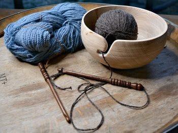 Yarn Bowl in use