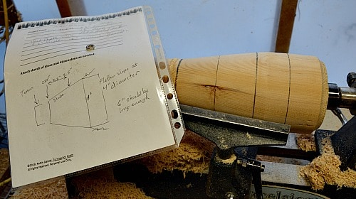 Shop notes for turning the cup holder