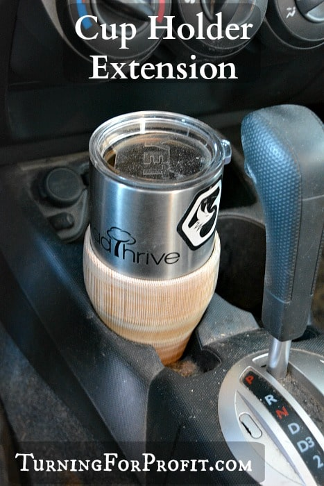 Coffee cup doesn't fit in your car? Turn a cup extension!